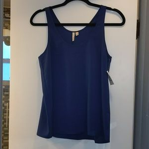 Frenchi Navy Blouse Tank